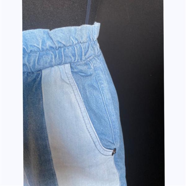 short mix jeans